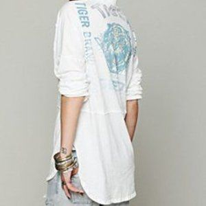 We The Free people tiger white rice bag shirt top